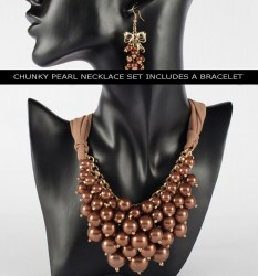 Adella Pearl Necklace Set