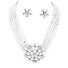 Jena Faux Pearl Necklace Set.