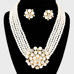 Sally Faux Pearl Necklace Set II