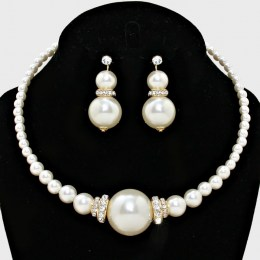Cara Faux Pearl Necklace Set II