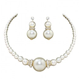 Cara Faux Pearl Necklace Set.