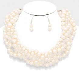 Lesley Pearl Necklace Set III