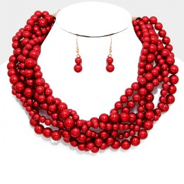 Tori Pearl Necklace Set III