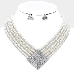 Kylie Faux Pearl Necklace Set. II