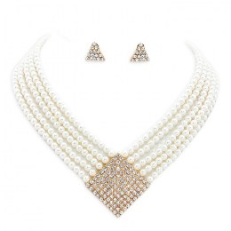 Giana Faux Pearl Necklace Set.