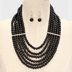 Alicia Faux Pearl Necklace Set. II