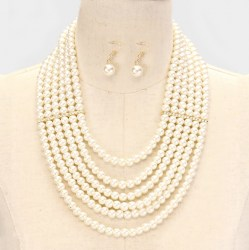 Paige Pearl Necklace Set II