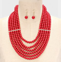 Gia Faux Pearl Necklace Set II