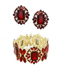 Minnie Crystal Post Earrings