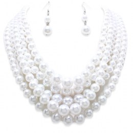 Novalie Pearl Necklace Set
