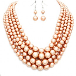 Tina Faux Pearl Necklace Set.