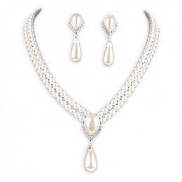 Evelia Pearl Necklace Set