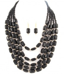Raven Bead Necklace Set