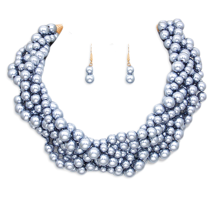 Heidi Pearl Necklace Set
