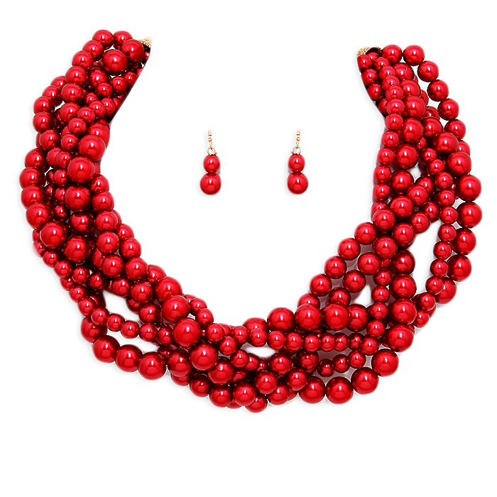 Tori Pearl Necklace Set