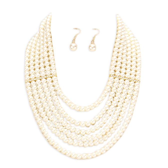 Paige Pearl Necklace Set